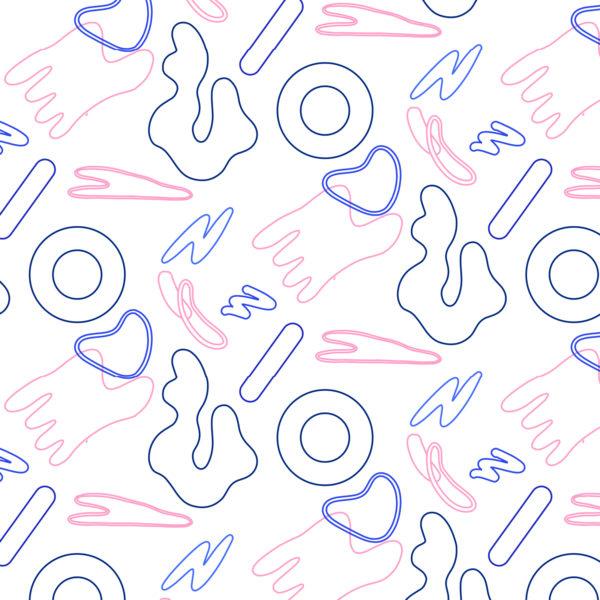 Cellular bleu motif