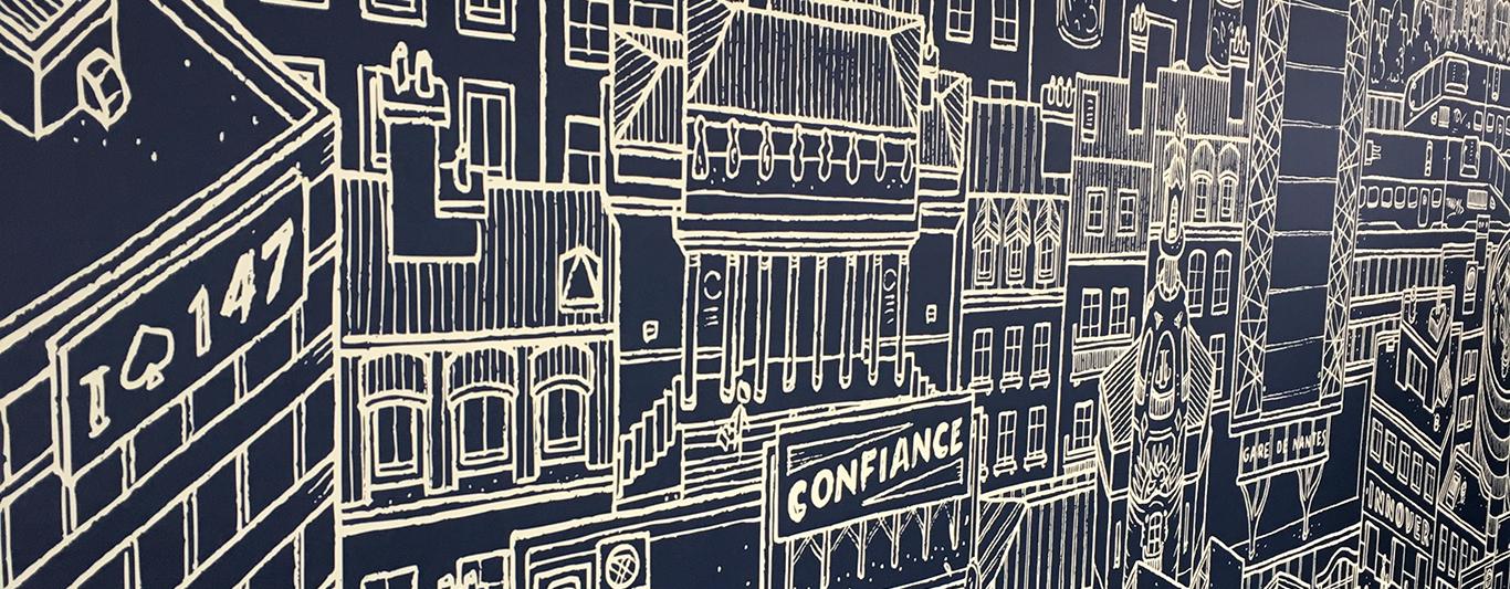 Détail Fresque Capgemini Nantes, Docteur Paper ® Illustration
